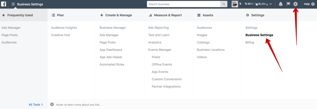 Facebook Business Manager Business Settings